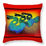 3 Serpents In The Sand  Throw Pillow