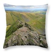 Sharpe Edge On Blencathra Fell, Lake District National Park Throw Pillow
