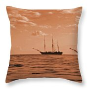 3 Ships  Gloucester Harbor Photo Taken In 2016 From My Kayak Throw Pillow