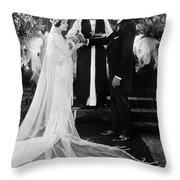 Silent Film Still: Wedding Throw Pillow