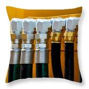 3 Silver 3 Gold Throw Pillow