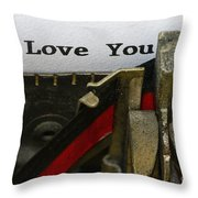 3 Simple Words Throw Pillow