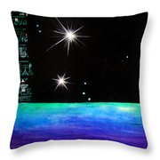 3 Sisters - 3 Stars Dancing At Night Throw Pillow