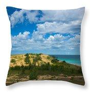 Sleeping Bear Dunes Throw Pillow