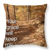 Slippery Slope - Text Full Throw Pillow
