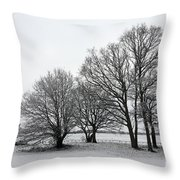 Snow On Epsom Downs Surrey Uk Throw Pillow
