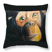 Soul Of A Monkey Throw Pillow
