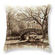 South Bridge - Central Park Throw Pillow