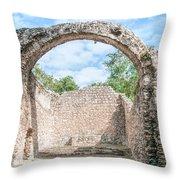 Spanish Chapel At Oxtankah Throw Pillow