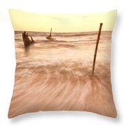 S.s Dicky Shipwreck Throw Pillow