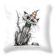 Stinker The Cat Throw Pillow
