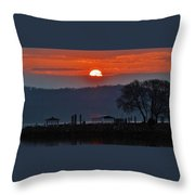 Stony Point Sunrise Throw Pillow