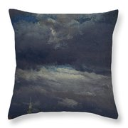 Stormclouds Over The Castle Tower In Dresden  Throw Pillow