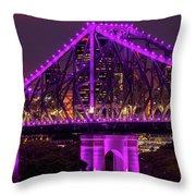Story Bridge In Brisbane, Queensland Throw Pillow