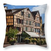 Streets Of Colmar Throw Pillow