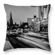Streets Of Washington Dc Usa Throw Pillow