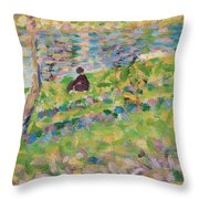 Study For Sunday Afternoon On The Island Of La Grande Jatte Throw Pillow