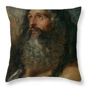 Study Of Two Heads Throw Pillow