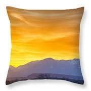 Sunrise Over Colorado Rocky Mountains Throw Pillow