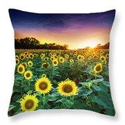 3 Suns Throw Pillow