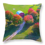Sunset Hill Farms Indiana  Throw Pillow