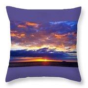 Sunset In Aguadillia Puerto Rico  Throw Pillow