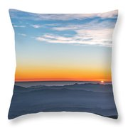 Sunset Over The La Silla Observatory Throw Pillow