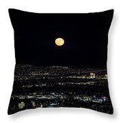 Super Moon In Las Vegas Throw Pillow