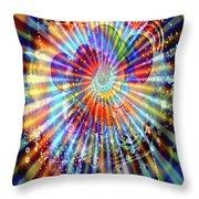 Supernova Of Love Throw Pillow