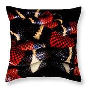 Surinam Coralsnake Throw Pillow