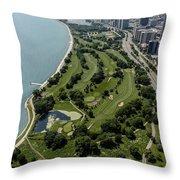 Sydney R. Marovitz Golf Course  Throw Pillow