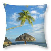 Tahiti, Bora Bora Throw Pillow