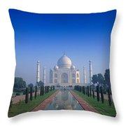 Taj Mahal View Throw Pillow