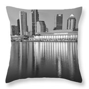 Tampa Bay Black And White Throw Pillow