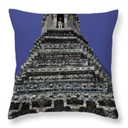Temple Detail In Bangkok Thialand Throw Pillow