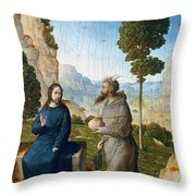 Temptation Of Christ Throw Pillow