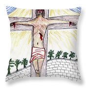 Thank  God  For  Good  Friday Throw Pillow