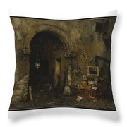 The Antiquary Shop Throw Pillow
