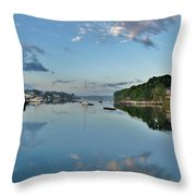 The Bass River At Dawn, Beverly Ma Throw Pillow