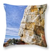 The Big Rock Throw Pillow