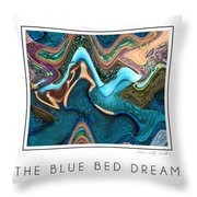 The Blue Bed Dream Throw Pillow
