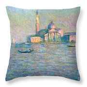 The Church Of San Giorgio Maggiore - Venice Throw Pillow