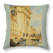 The Church Of The Gesuati Throw Pillow