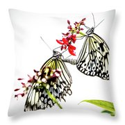 The Extraordinary Rice Paper Butterfly A Series Throw Pillow