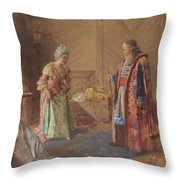 The First Curtsey Throw Pillow