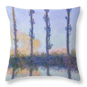 The Four Trees Throw Pillow
