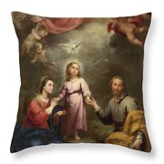 The Heavenly And Earthly Trinities Throw Pillow