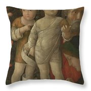 The Holy Family With Saint John Throw Pillow