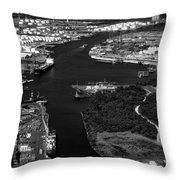 The Houston Ship Channel Throw Pillow