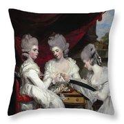 The Ladies Waldegrave Throw Pillow